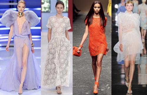 Прозрачная органза платье