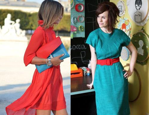 Яркое платье – как выбрать фасон