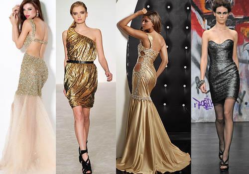 Фасоны блестящих платьев