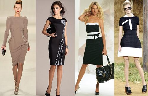 длина делового платья