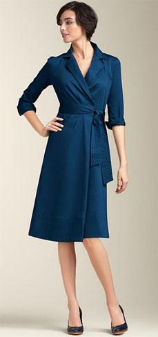 Как подчеркнуть фигуру с помощью платья - Платье с запахом