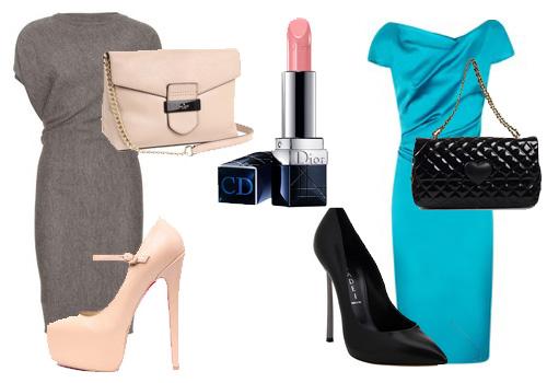правила сочетания туфель и платья