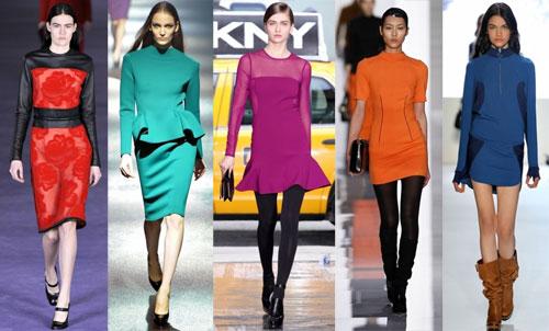 Модные платья 2013: цветовая палитра