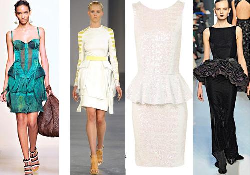 Платье с баской - модный тренд