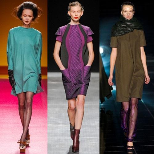 Платье-балахон в стиле кэжуал