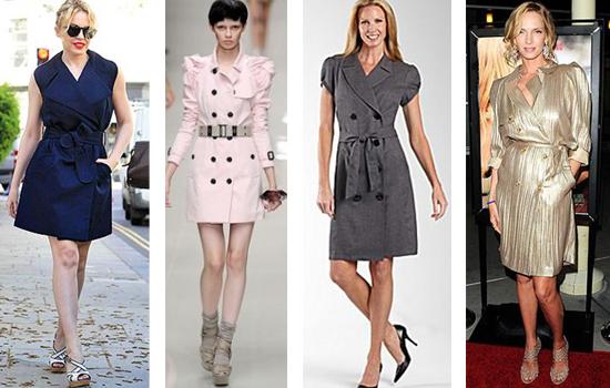 Как и с чем носить платье - тренч
