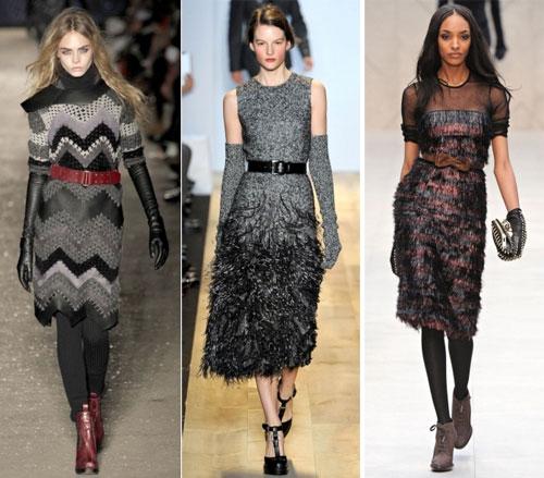 Зимние трикотажные платья 2013,Бренды: Rag&Bone, Marc Jacobs, Burberry Prorsum