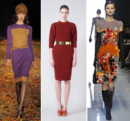 Зимние трикотажные платья 2013, Бренды: Douglas Hannant, Stella McCartney, Bottega Veneta