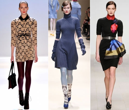 Зимние трикотажные платья 2013, Бренды: Charlote Ronson, DKNY