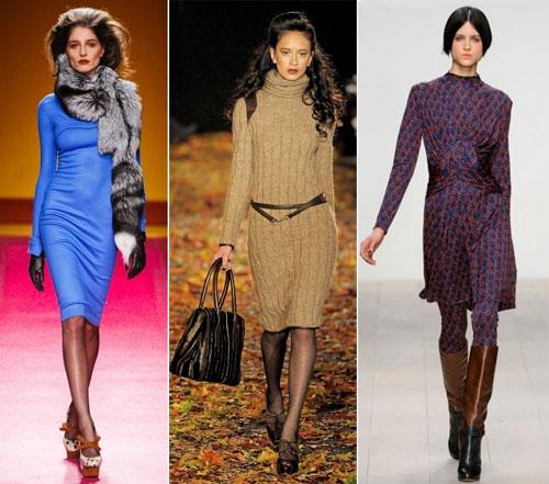 Зимние трикотажные платья 2013, Бренды: Chadwick Bell, Douglas Hannant