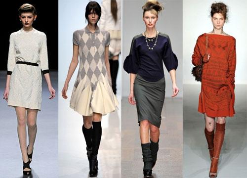 Трикотажные платья носить зимой 2013