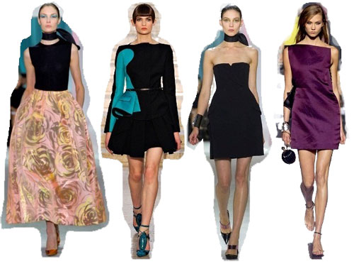 Самые модные фасоны платьев 2013