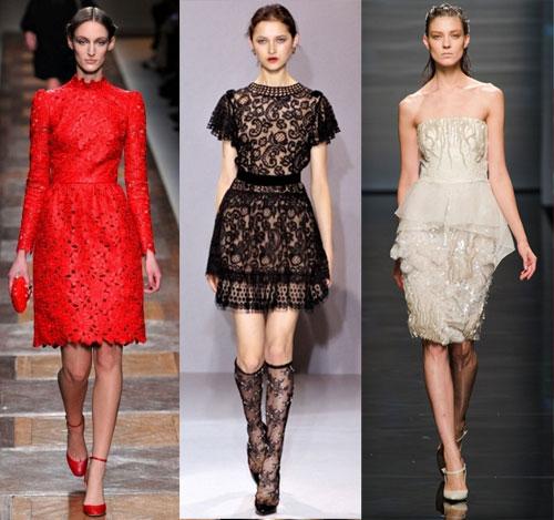 Материалы коротких вечерних платьев 2013