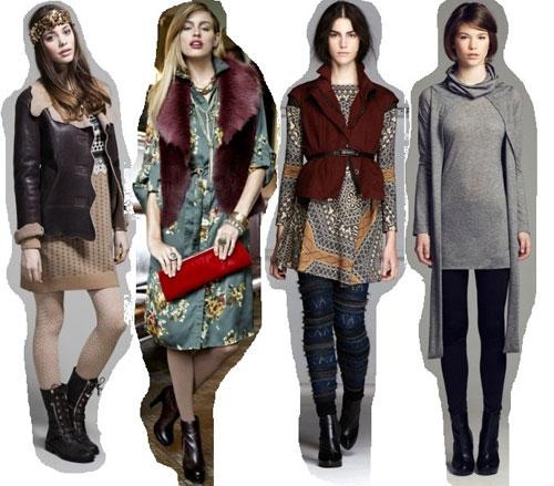 С чем носить платье зимой