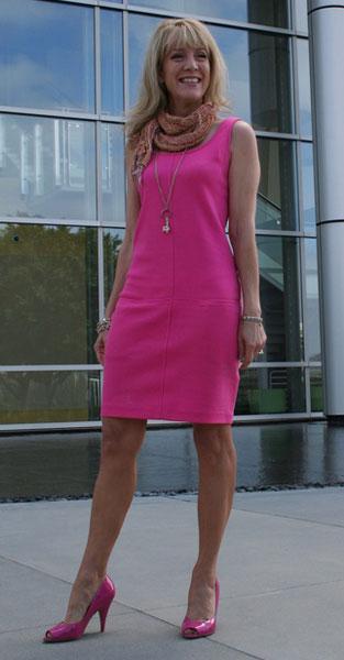 С чем носить розовое платье. Розовый и розовый