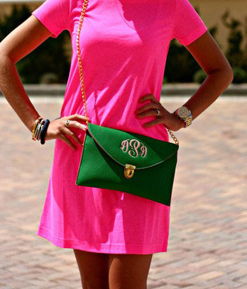 С чем носить розовое платье. Розовый и зеленый