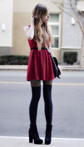 С чем сочетать красное платье