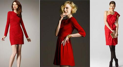 С чем сочетать красное платье - идеи