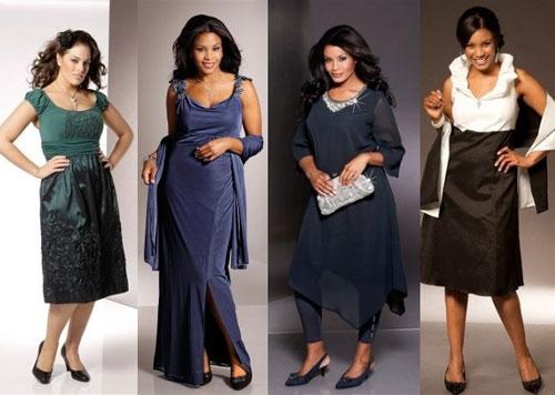 Стильные платья для полных 2013