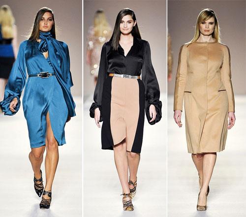 Стильные платья для полных 2013, Elena Miro
