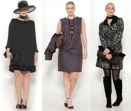 Стильные платья для полных 2013, Marina Rinaldi