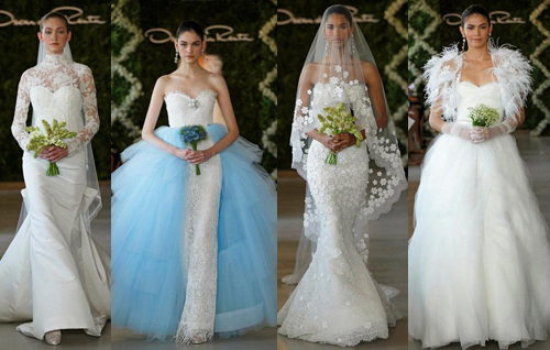Модные свадебные платья 2013 от Oscar de la Renta