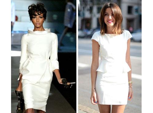 С чем носить светлое платье?