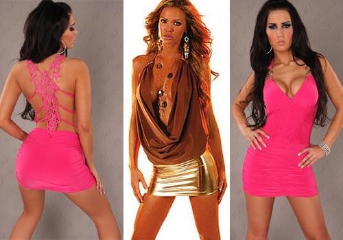 клубные платья с открытой спиной