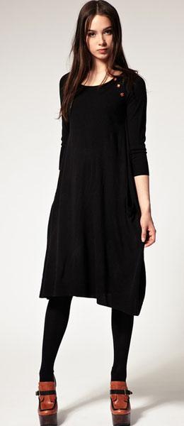Повседневное шерстяное платье