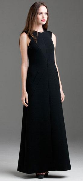 Вечернее шерстяное платье
