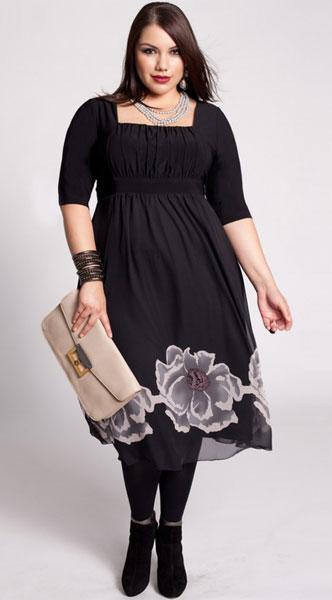 Фасон платья для полных
