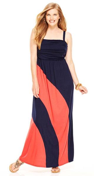 Как выбрать расцветку платья для полных