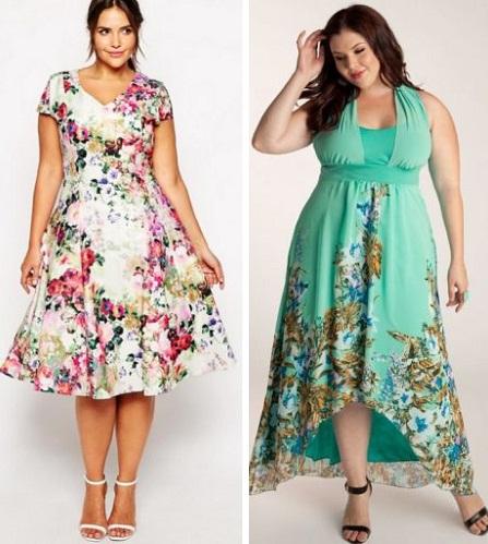 Летние платья для полных
