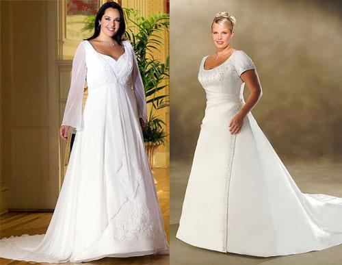 Как выбирать свадебные платья больших размеров