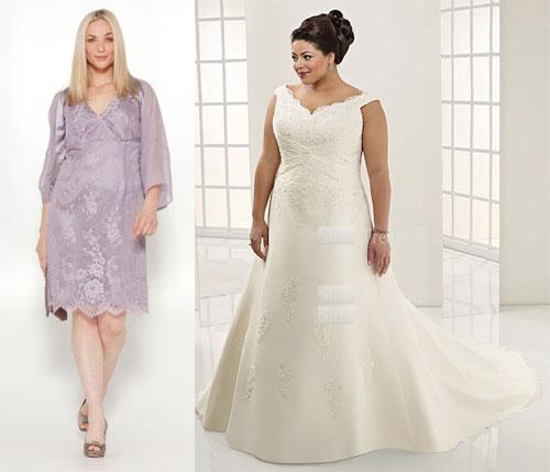 Чего следует избегать при выборе свадебного платья большого размера
