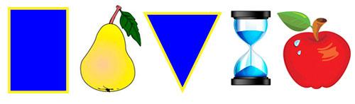 Типы фигуры: прямоугольник, груша, треугольник, песочные часы, яблоко