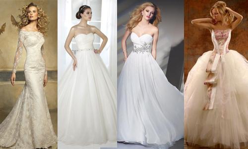 Свадебные платья для типа фигуры треугольник