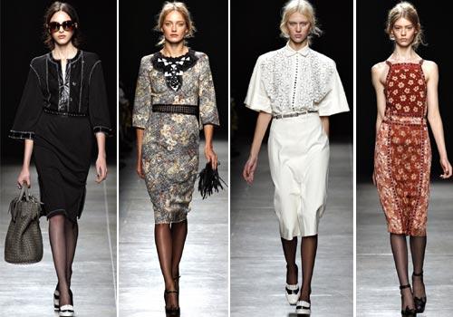 платья с рукавами-фонариками, рукавами длиной в три четверти Bottega Veneta