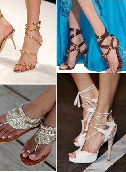 Обувь в греческом стиле