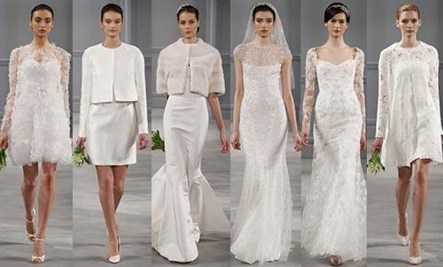 свадебная мода 2014 Monique Lhuillier
