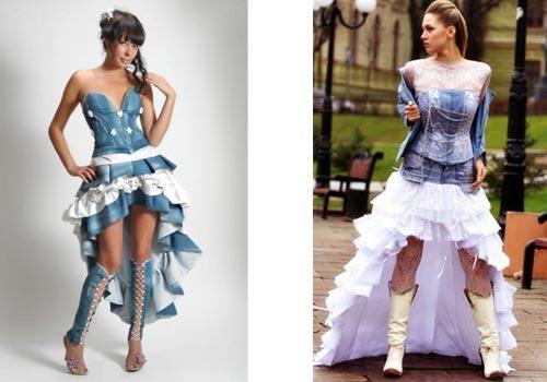 Свадебные платья джинс