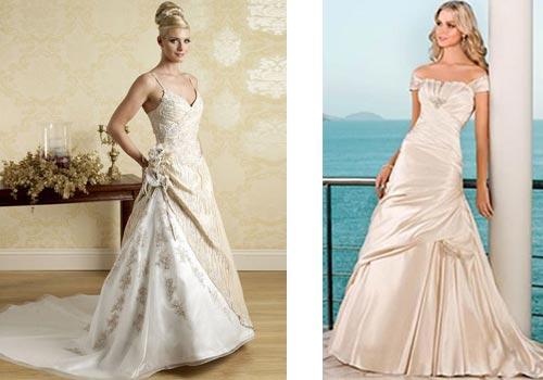 Элегантные свадебные платья цвета айвори