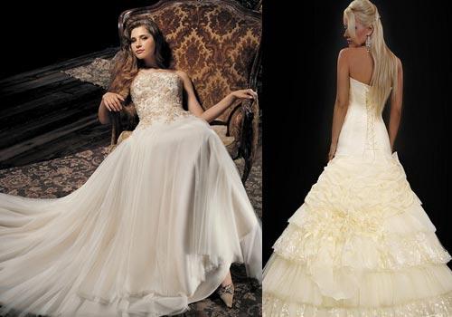 Цвет айвори в платье для свадьбы