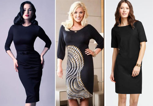 деловое платье классического фасона