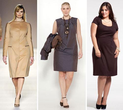 Как выбрать деловое платье полной девушке