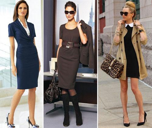 чем дополнить деловое платье