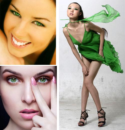 Макияж подходящий к зеленому платью