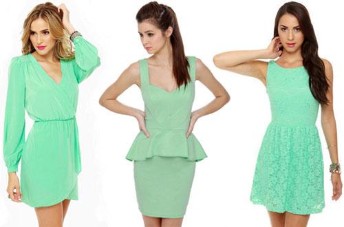 Платье цвет мята с чем носить