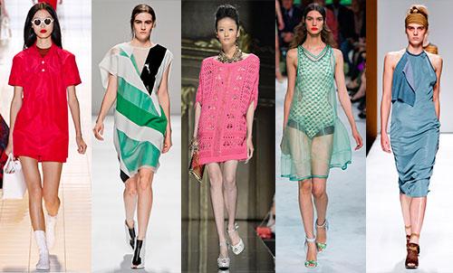 Модные оттенки и принты лета 2013