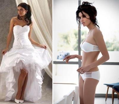 Как выбрать белье под свадебное платье с открытыми плечами